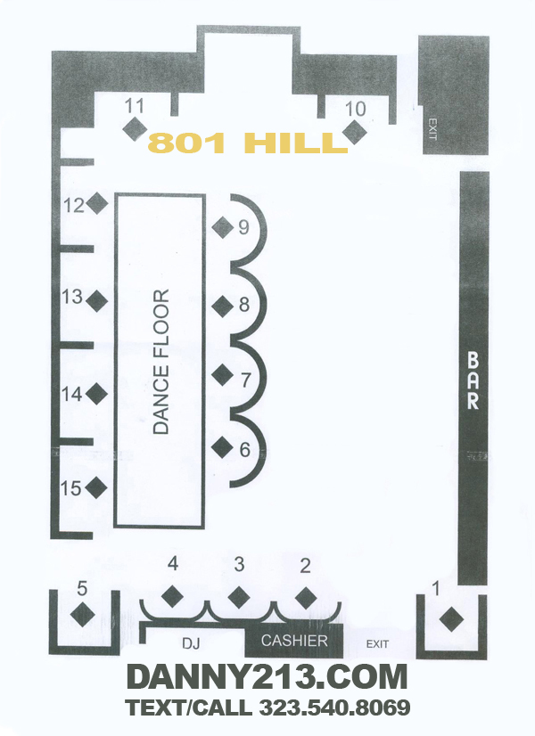 Floor plan 801 hill for Nightclub floor plans